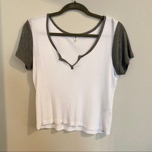Nordstrom white and grey tee